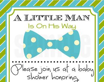 Baby Boy Shower Invitations. Bowtie Boy Baby Shower Invitation ...