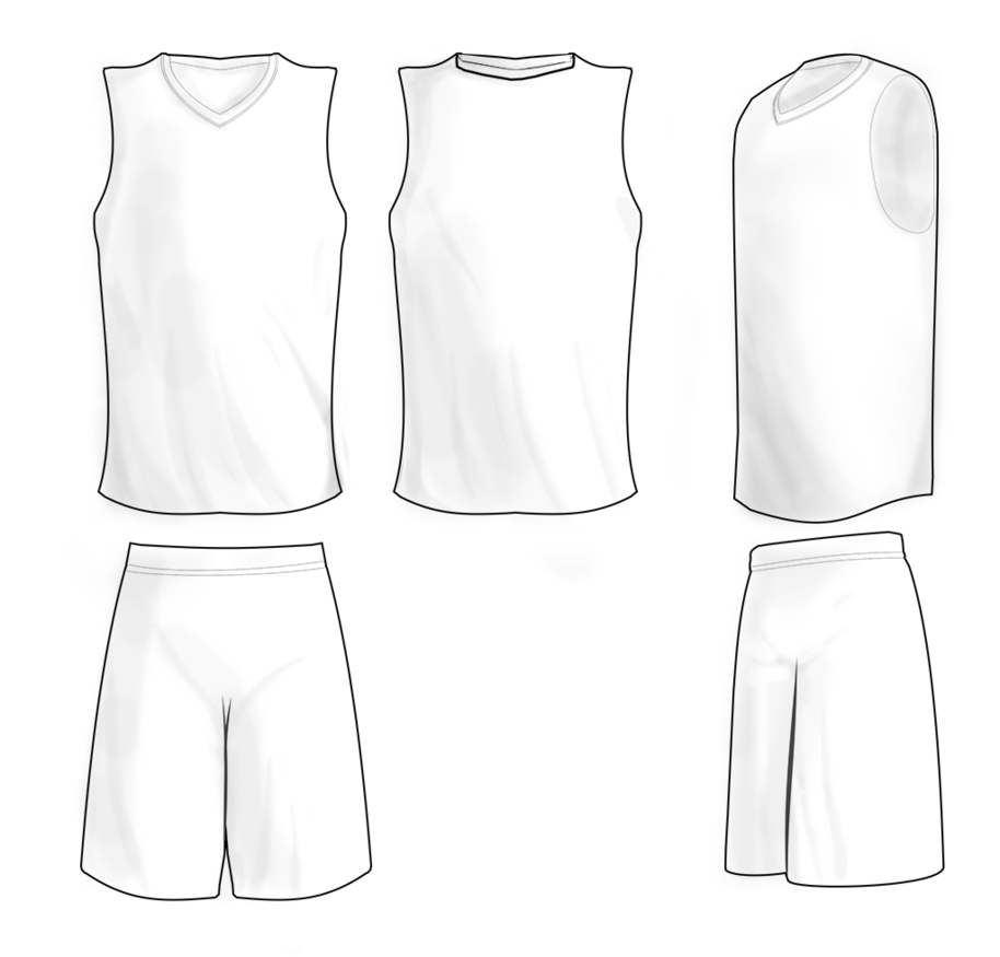 Basketball Jersey Template - Cliparts.co