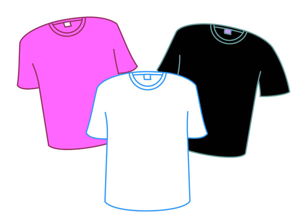 T-Shirts In Bold Colors - Free Clip Art - Cliparts.co