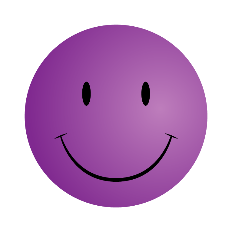 Purple Happy Face