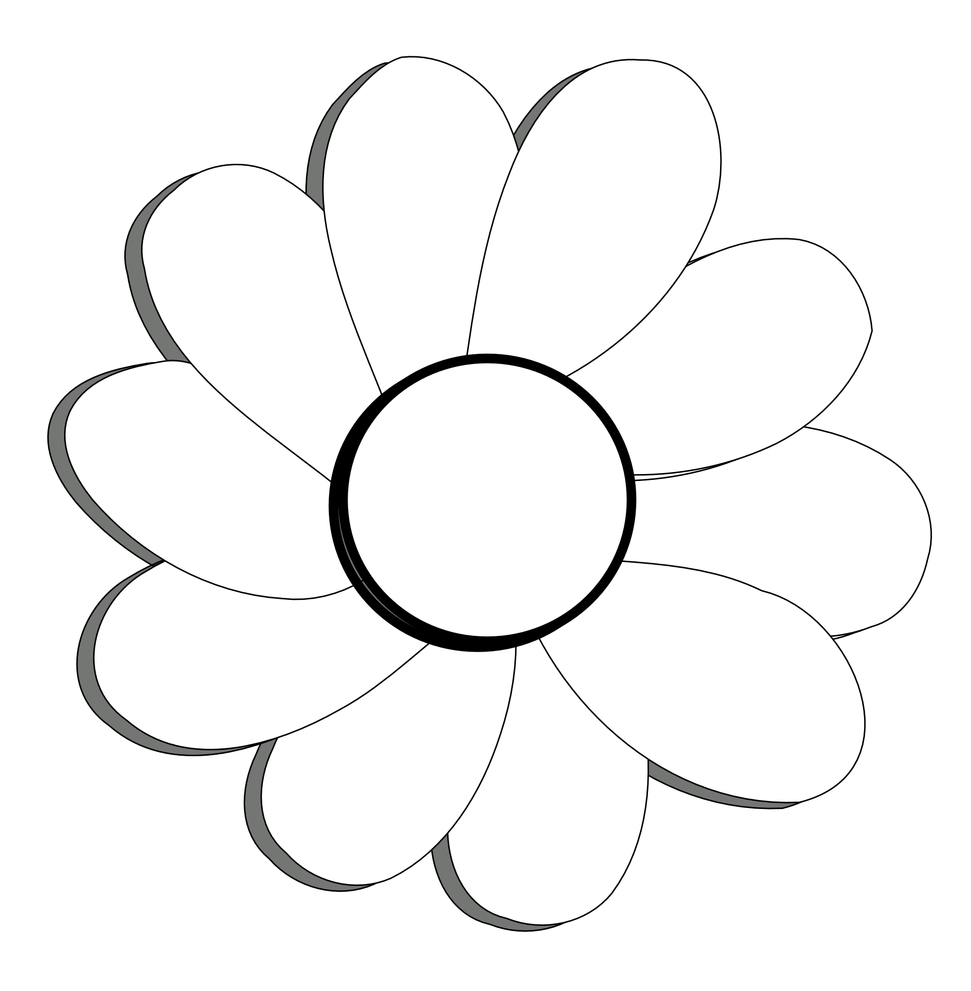 Images Of Black And White Flowers - Cliparts.co