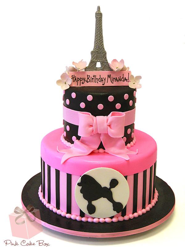 Custom Birthday Cakes In NJ NY PA Pink Cake Box