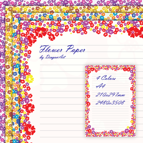 Free Border Designs For A4 Size Paper Flowers - Cliparts.co