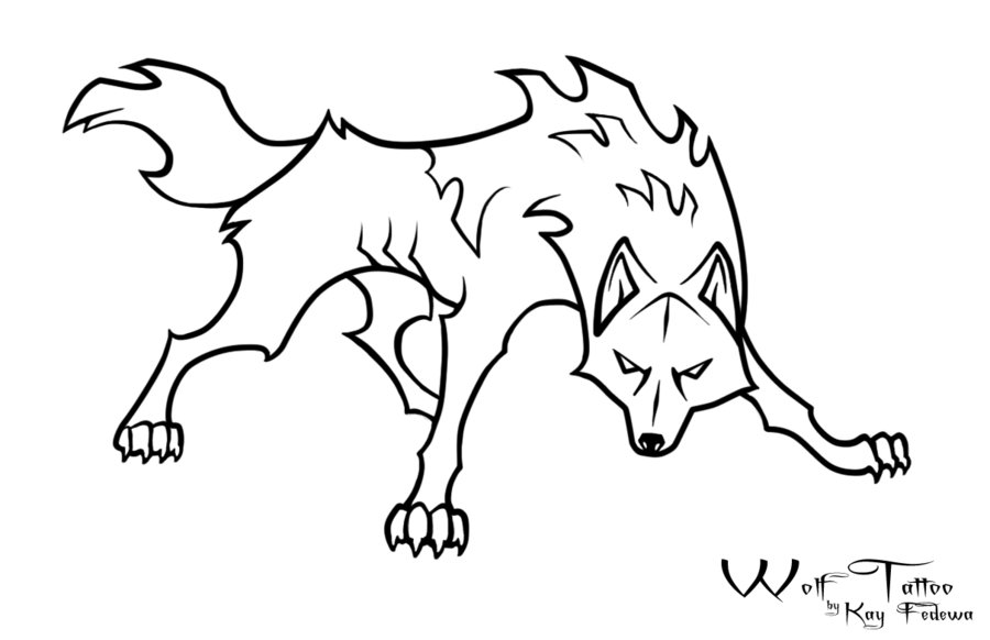 Wolf Head Outline - Cliparts.co