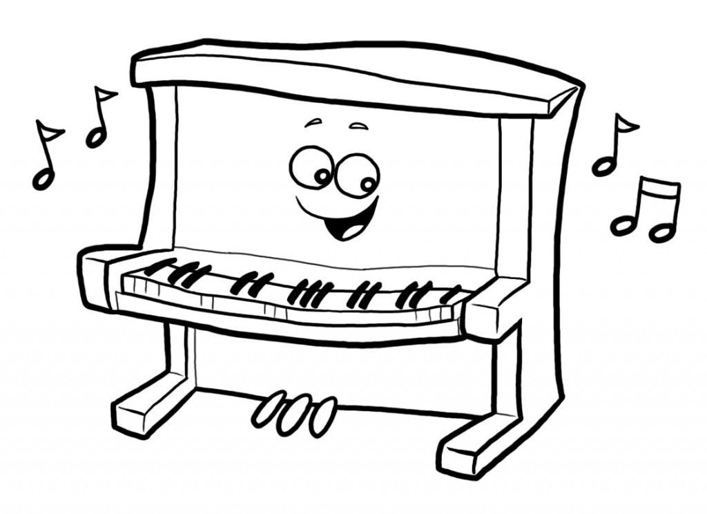 Happy Piano  MyChurchToolbox   Upright Piano Clip Art Black And White