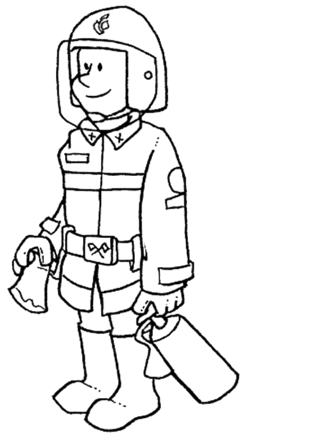 firefighters tools coloring pages - photo#6