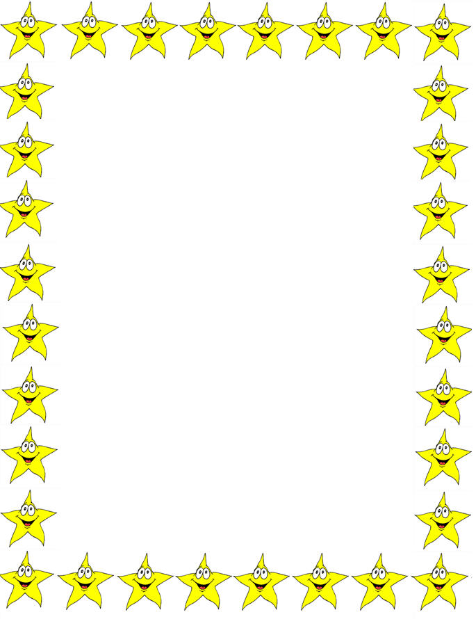 Star page borders cliparts