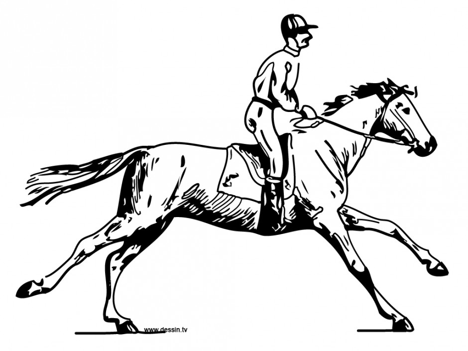 Coloring Horse With Horseman 157339 Horse And Rider Coloring Pages