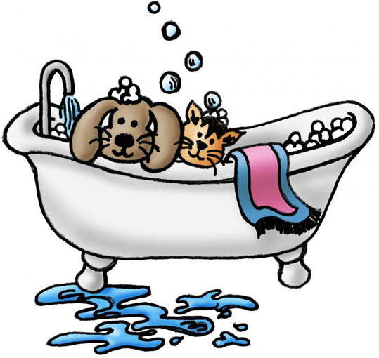 Cat And Dog Grooming Clip Art
