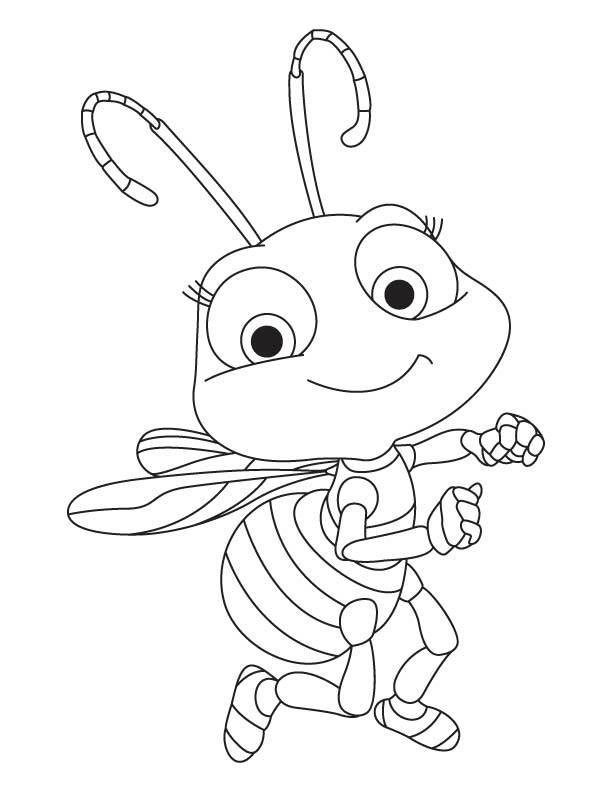 Bumble Bee Honey Coloring Page Honey Bee Drawings - C...