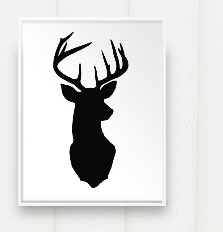Pin Whitetail Deer Head Silhouette Pictures on Pinterest