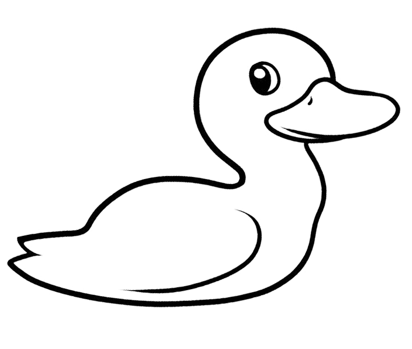 Cute duckling printables coloring pages