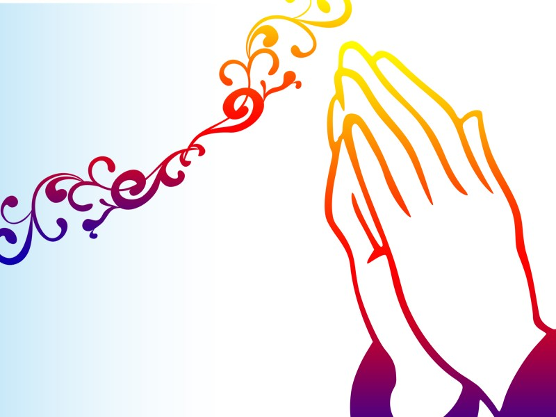 Praying Hands PPT Backgrounds - Orange, Religious - Powerpoint ...