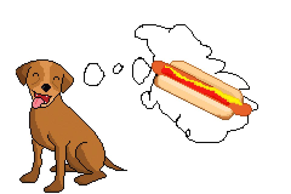 Hot Dog Pixel Art