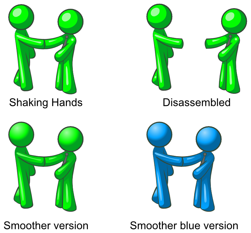 Clipart - Men Shacking Hand (4 differents versions)