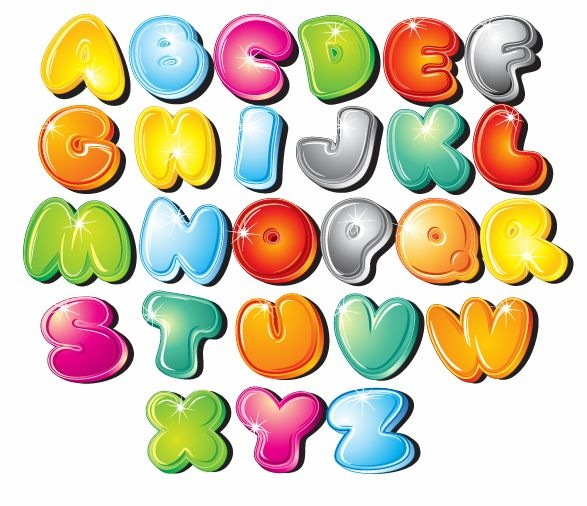 Cartoon Style Letters Vector Set | Free Vector Graphics | All Free ...