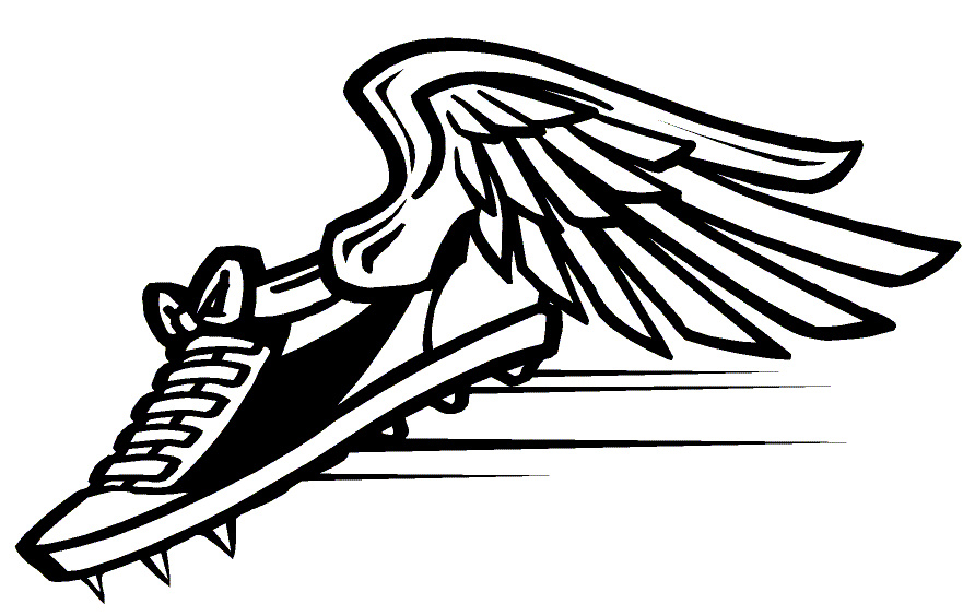 Track Clip Art Track Shoe With Wings | Clipart Panda - Free ...
