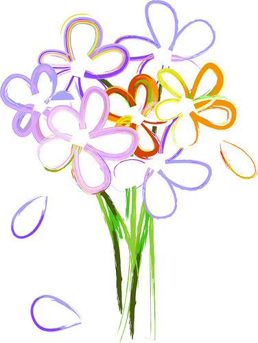Flowers For > Bunch Of Flowers Clip Art