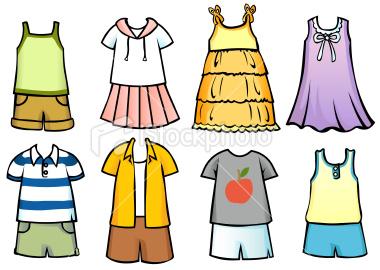 Summer clothes clipart