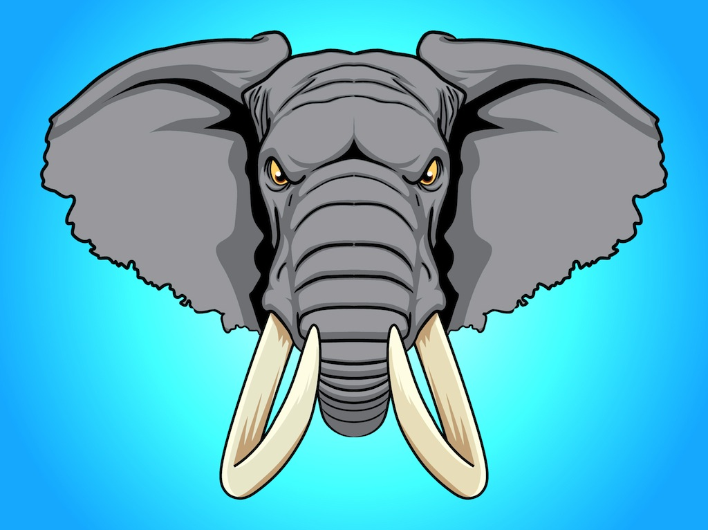 clipart elephant face - photo #21