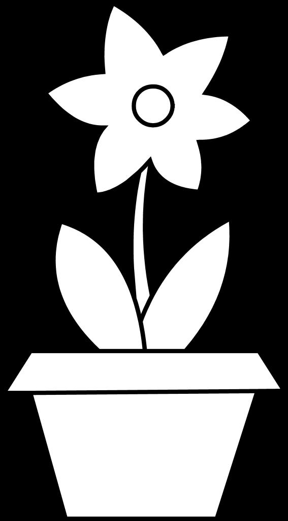 Free Flower Clipart Black White