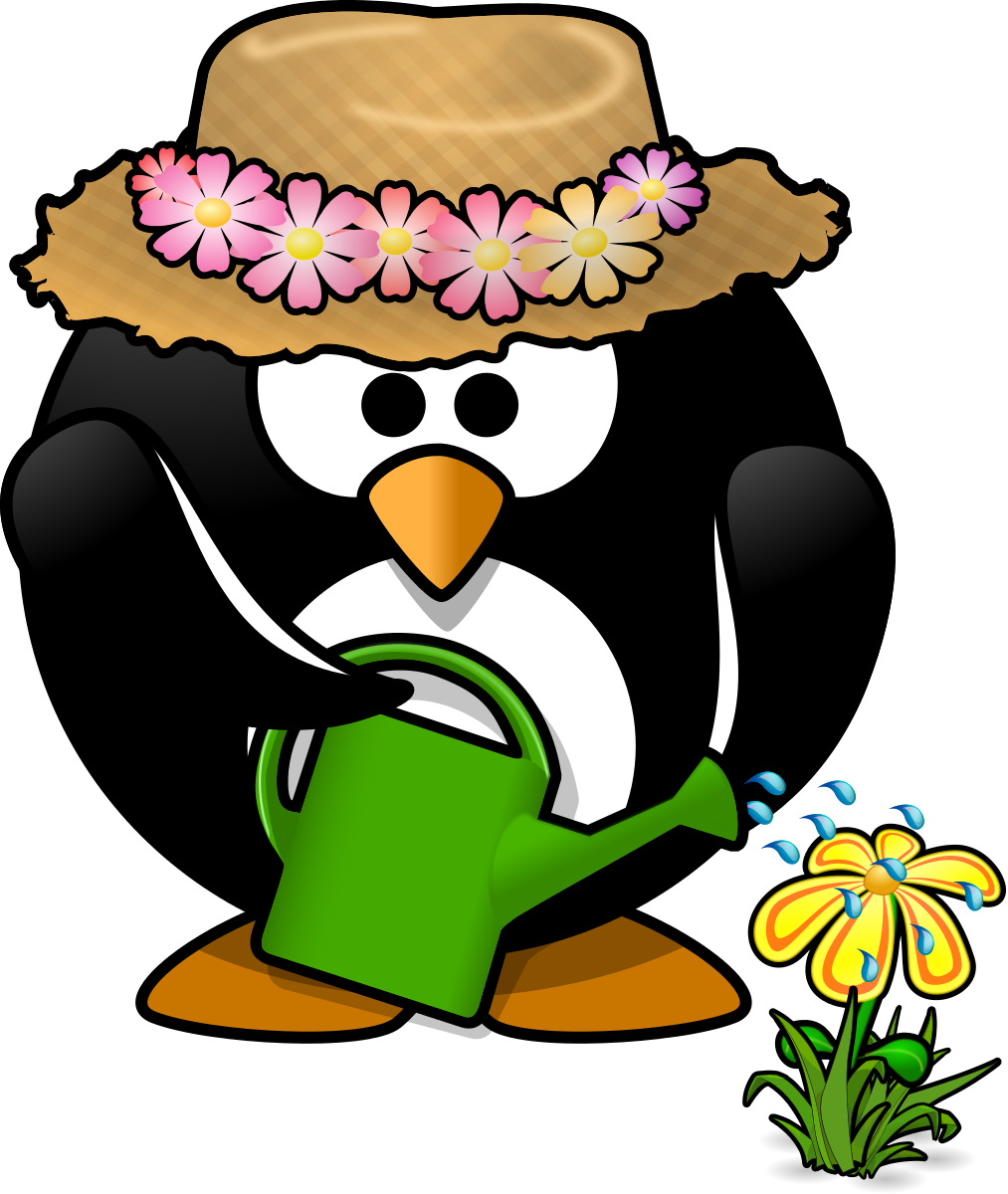 Garden Penguin Clipart by Moini : Flower Cliparts #8372- ClipartSE