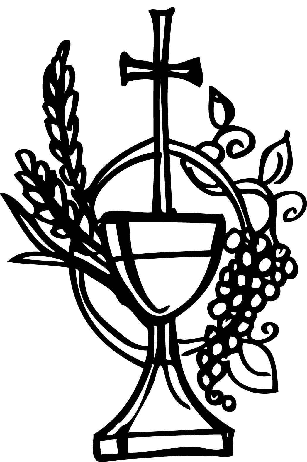 First holy communion symbol church first holy communion symbol chalice and the host colouring resource cdrom cat biocorpaavc