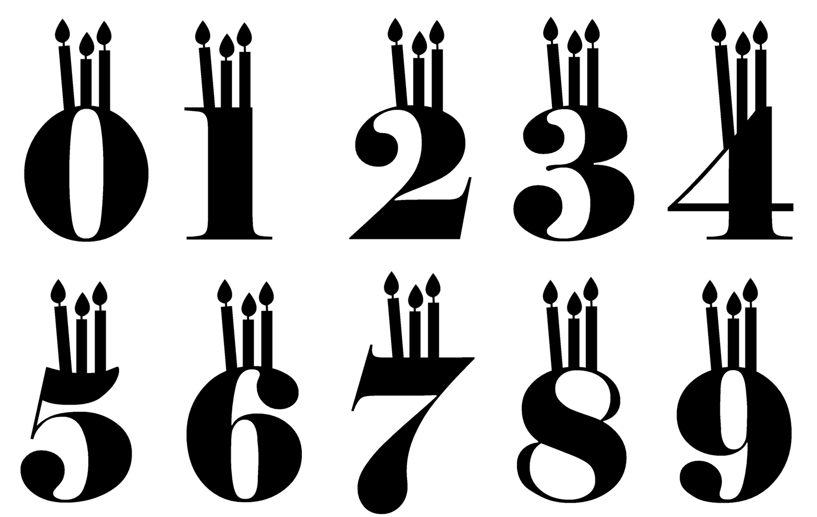 Birthday Candle Font - Cliparts.co
