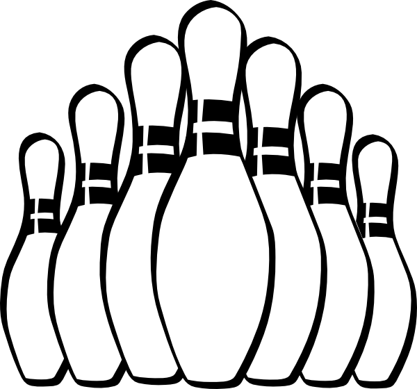 Bowling Pins clip art - vector clip art online, royalty free ...