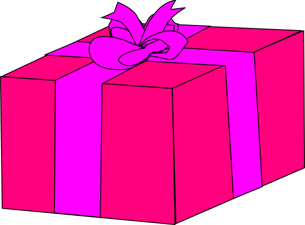 Pink Gift Box clip art - vector clip art online, royalty free ...