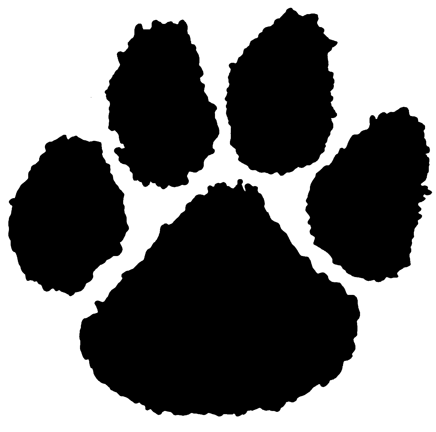 tiger tracks clip art - photo #29