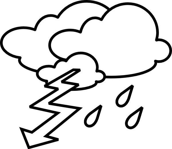 Stormy Outline clip ar...