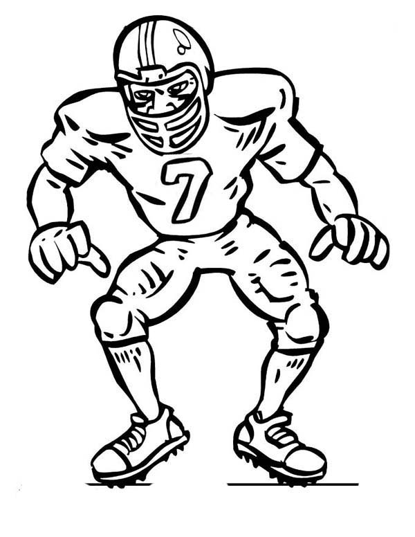american football player coloring pages - photo#8