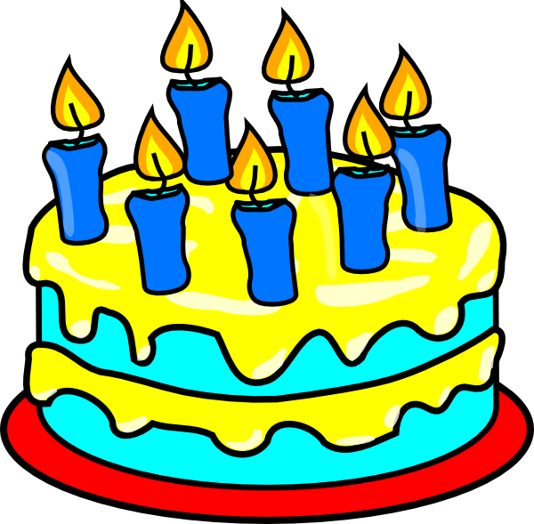 Blue Birthday Cake Clip Art | Clipart Panda - Free Clipart Images
