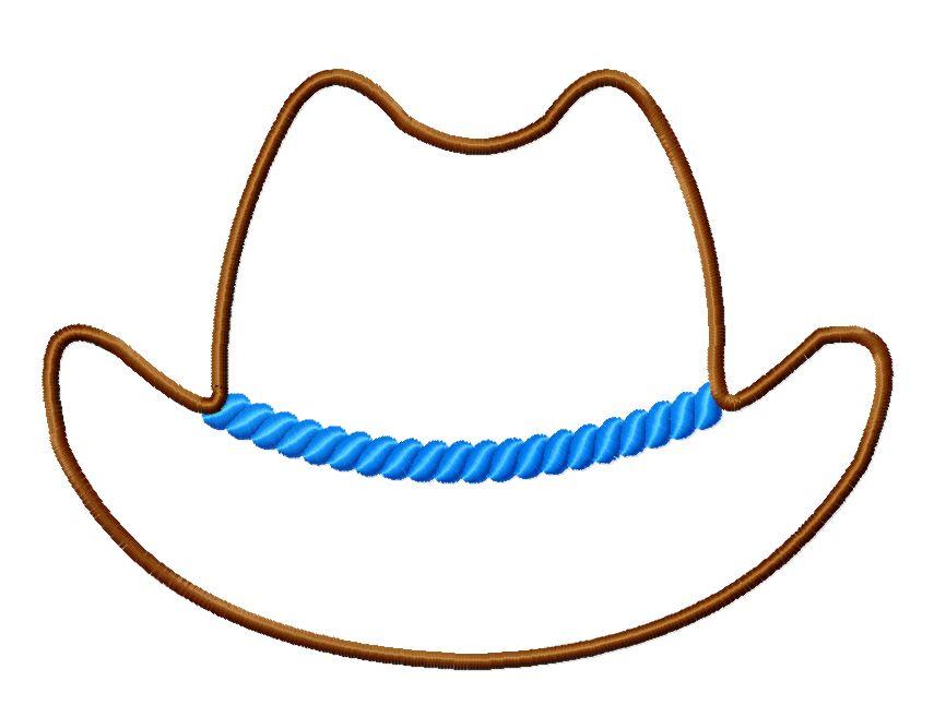 cowboy hat stencil clipartsco