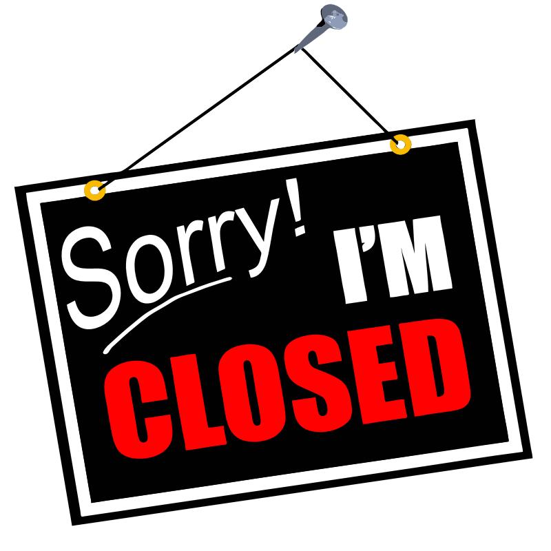 closed sign clip art