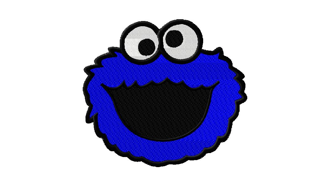 Cookie Monster Cartoon Cookie