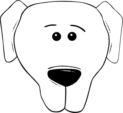 Cartoon dog face outline Free vector for free download (about 7 ...