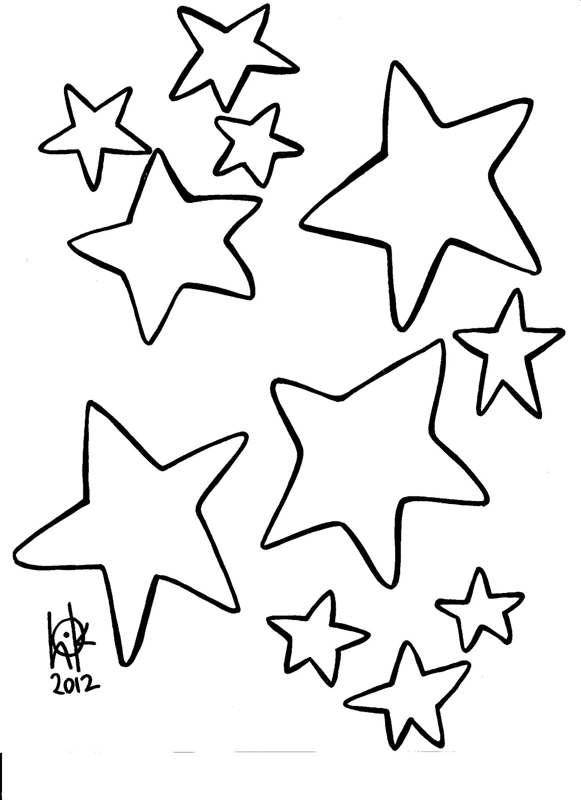 coloring pages shooting star - photo#15