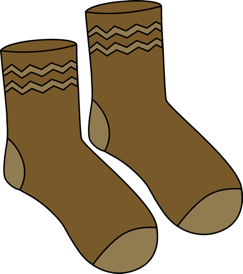 Brown Pair Of Socks Clip Art - Brown Pair Of Socks Image ...