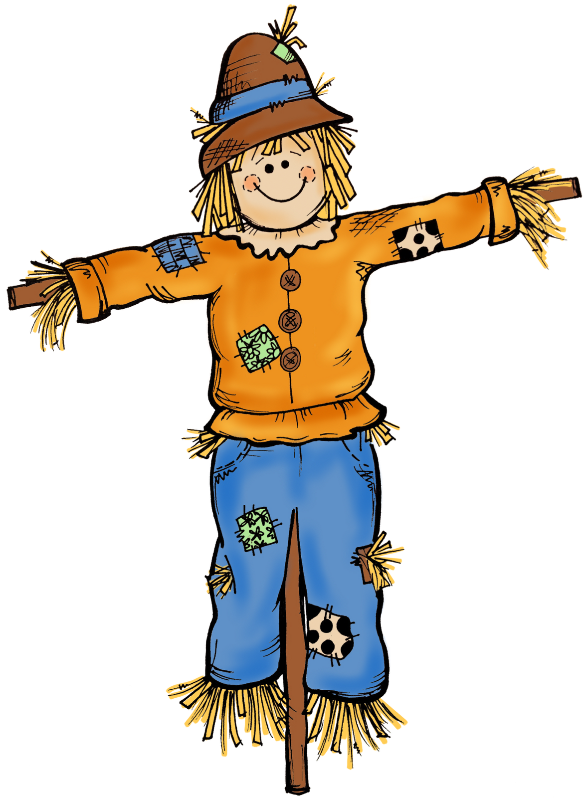 autumn scarecrow clipart rh worldartsme com scarecrow clip art free black and white scarecrow clipart and images