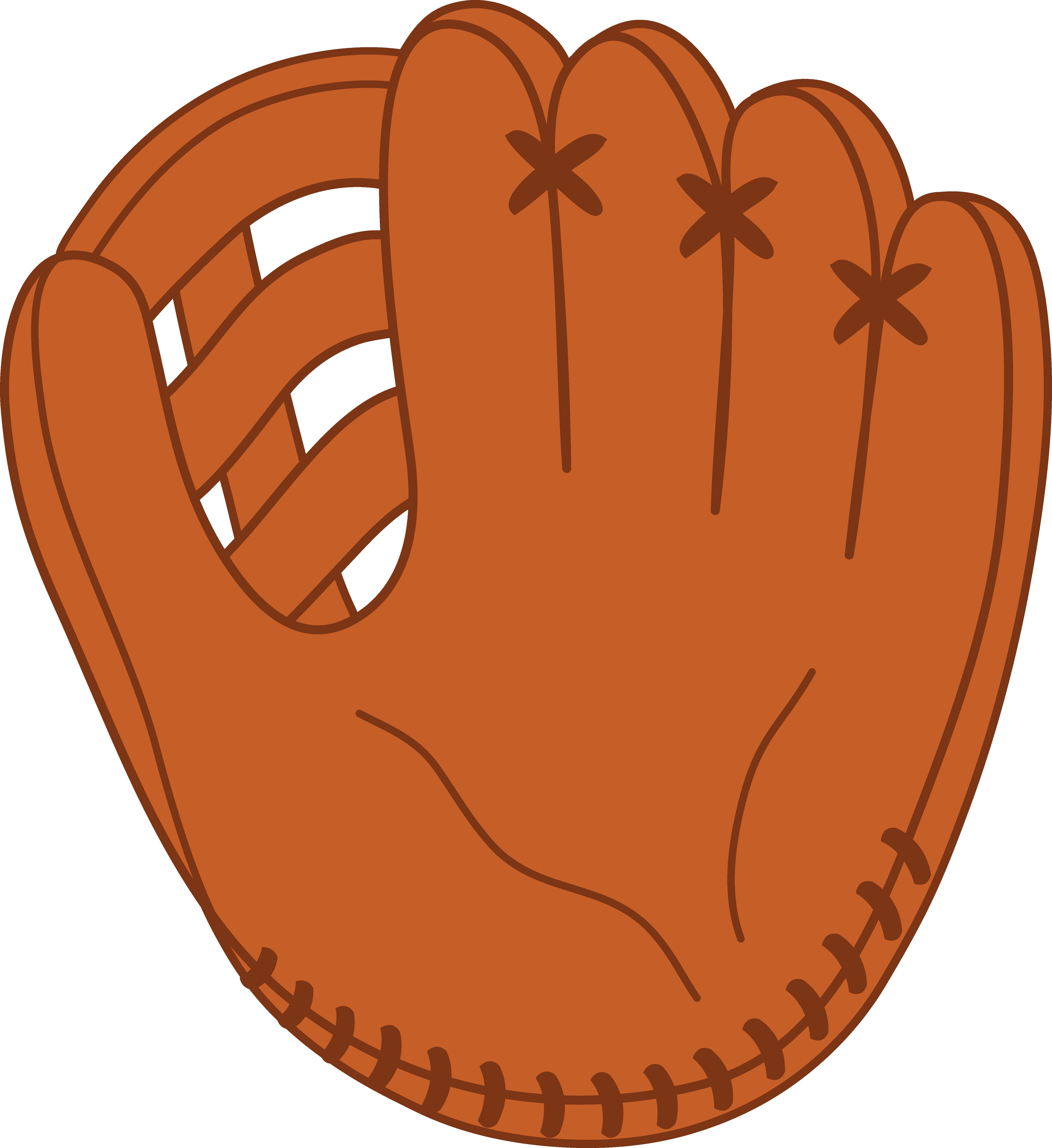 Leather Baseball Mitt - Free Clip Art
