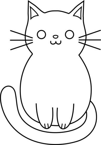 Line Drawing Of Cat : Line art cat cliparts