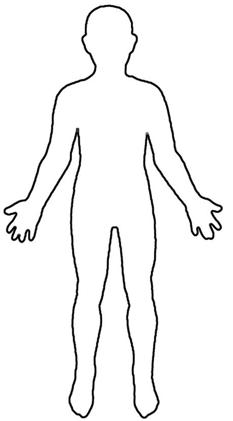 Human Body Outline Printable - Cliparts.co Outline Of A Human Body