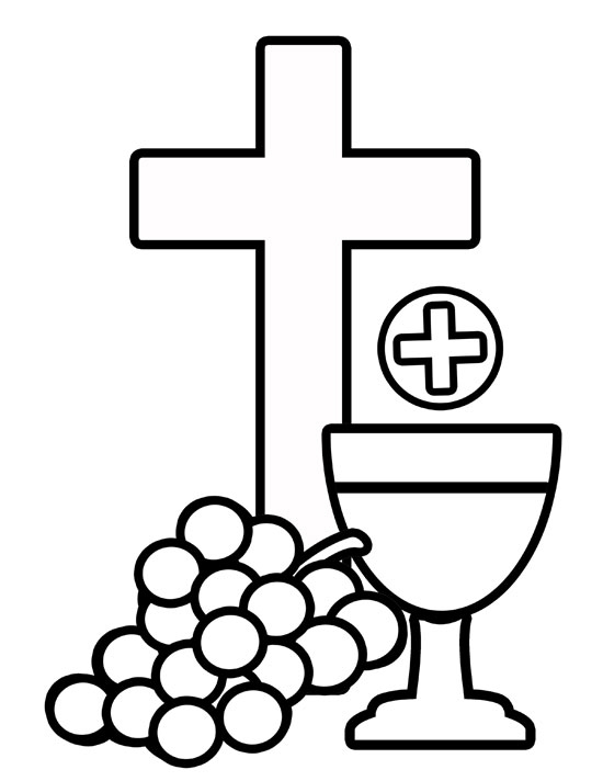eucharist clip art cliparts co Wine Bottle Coloring Page  Bread And Wine Coloring Pages