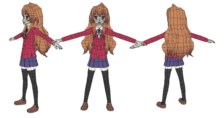 Anime Girl Body Outline