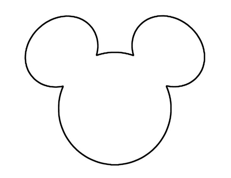 outline of mickey mouse head clipartsco With mickey mouse head shape template