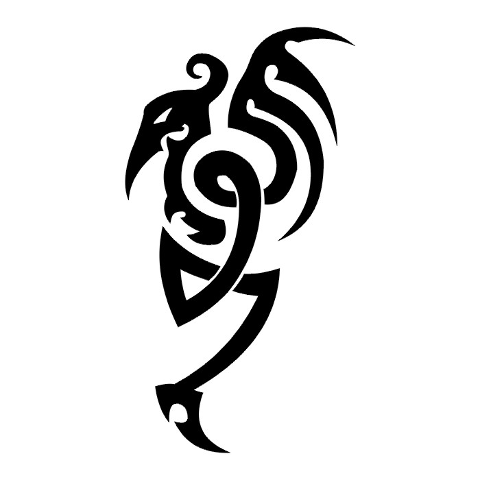 black and white dragon tattoos clipartsco