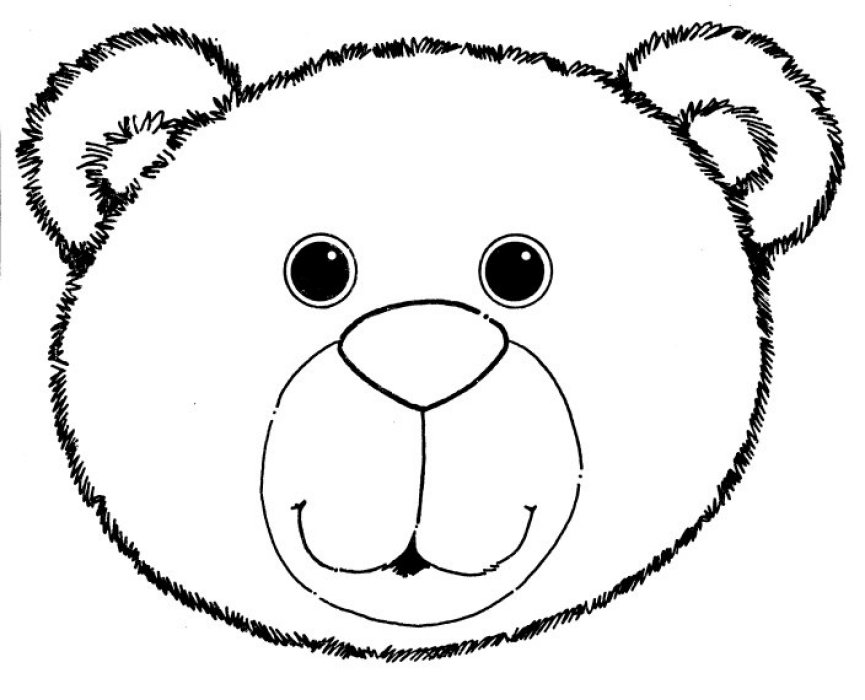 Bear Head Template