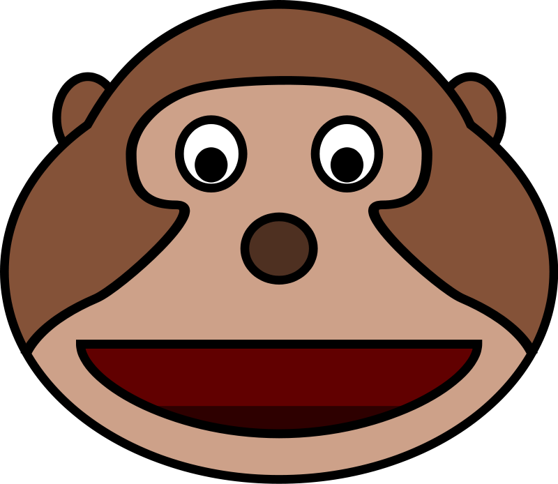 Hanging Monkey Cartoon - Cliparts.co